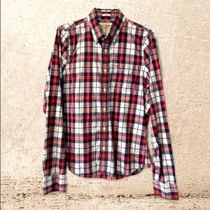 100% COTTON Abercrombie & Fitch MUSCLE Button Down